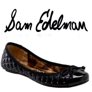 Sam Edelman | Black and Gold Studded Calypso Flat